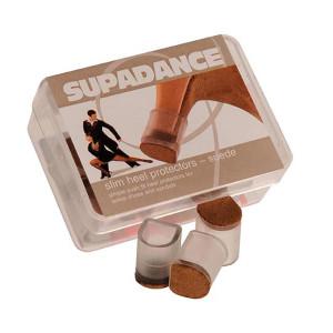 Supadance - Absatzschoner Slim mit Rauleder [Transparent | 1 Paar]