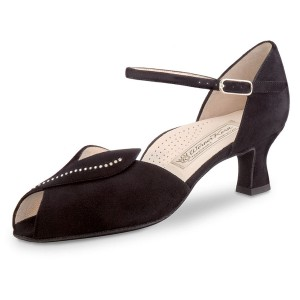 Werner Kern - Ladies Dance Shoes Ilona - Black Suede