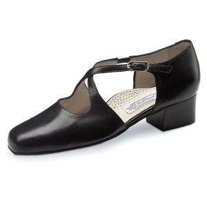 Werner Kern - Femmes Chaussures de Danse Ines - Cuir Noir