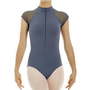Intermezzo - Damen Ballett Body/Trikot mit Zip vorne und Ärmeln kurz 31254 Bodymerzip