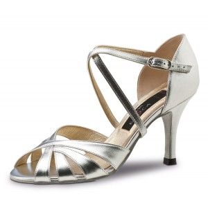 Werner Kern - Ladies Dance Shoes Jolanda - Patent Silver