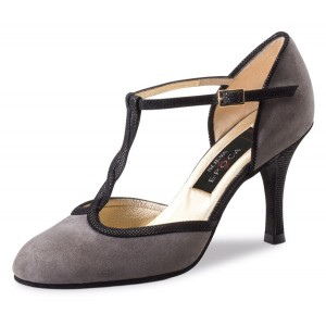 Nueva Epoca - Ladies Dance Shoes Josefina - Suede Gray