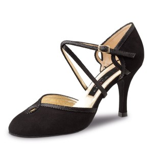 Nueva Epoca - Ladies Dance Shoes Juana - Black Suede