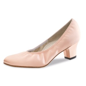 Werner Kern - Mulheres Sapatos de Dança Laura - Flesh Cetim