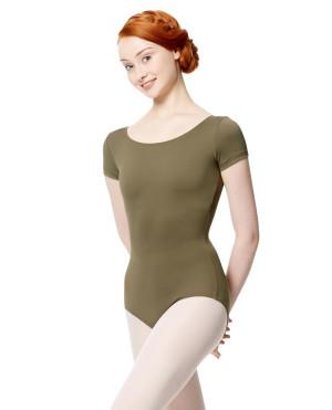 LULLI Dancewear Donne Balletto Calzamaglia/Body/Leotard ABIGAIL con maniche corte