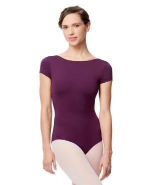 LULLI Dancewear Donne Balletto Calzamaglia/Body/Leotard OCTAVIA con maniche corte