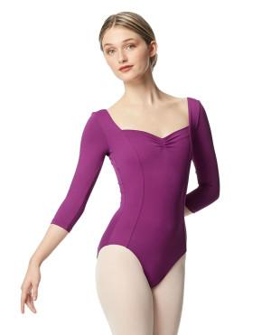 LULLI Dancewear Donne Balletto Calzamaglia/Body/Leotard ALLA senza schienale con maniche 3/4