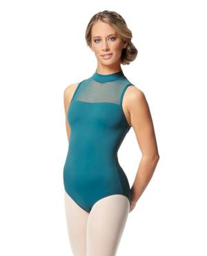 LULLI Dancewear Donne Balletto Calzamaglia/Body/Leotard KLARA senza maniche con collo alto