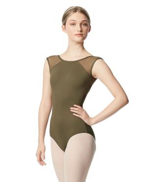 LULLI Dancewear Donne Balletto Calzamaglia/Body/Leotard NIKITA con maniche ad aletta