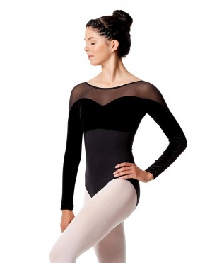LULLI Dancewear Donne Balletto Calzamaglia/Body/Leotard ROMINA con maniche lunghe