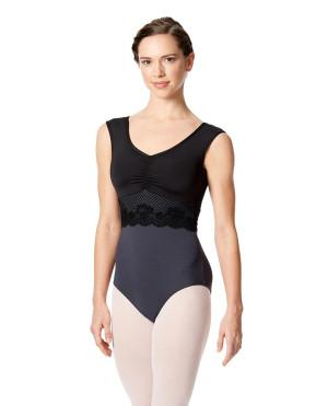 LULLI Dancewear Donne Balletto Calzamaglia/Body/Leotard JOLANDA senza maniche