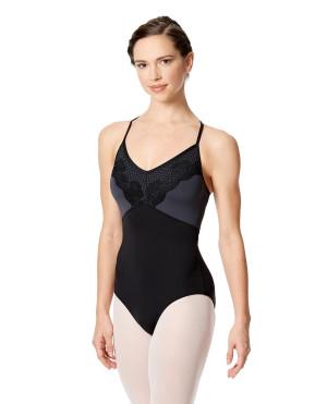 LULLI Dancewear Donne Balletto Calzamaglia/Body/Leotard SALOME con reggiseno a coppa