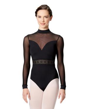 LULLI Dancewear Donne Balletto Calzamaglia/Body/Leotard GABRIELA con maniche lunghe