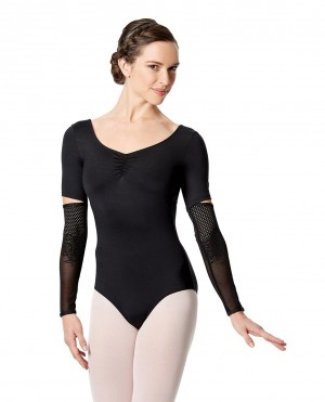 LULLI Dancewear Donne Balletto Calzamaglia/Body/Leotard ZAIRA con maniche lunghe