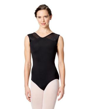 LULLI Dancewear Donne Balletto Calzamaglia/Body/Leotard CASSANDRA senza maniche