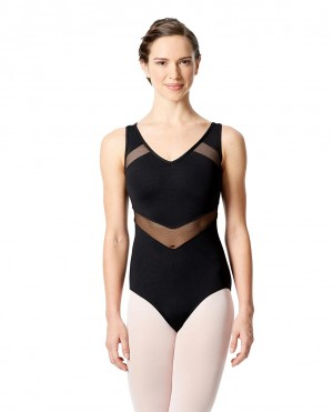 LULLI Dancewear Donne Balletto Calzamaglia/Body/Leotard GIOVANNA senza maniche