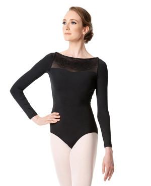 LULLI Dancewear Donne Balletto Calzamaglia/Body/Leotard ISIDORA con maniche lunghe