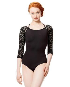 LULLI Dancewear Donne Balletto Calzamaglia/Body/Leotard LETICIA senza schienale con maniche 3/4