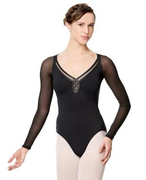 LULLI Dancewear Donne Balletto Calzamaglia/Body/Leotard VIVIANE con maniche lunghe