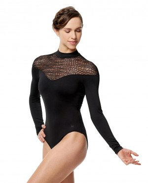 LULLI Dancewear Womens Ballett Body/Leotard CAROL with long sleeves
