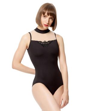 LULLI Dancewear Donne Balletto Calzamaglia/Body/Leotard ARIELA con colletto rialzato