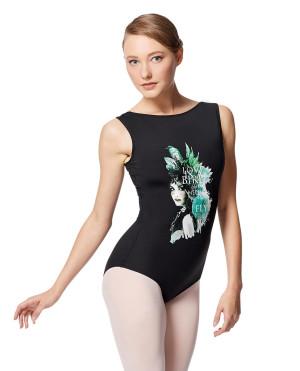 LULLI Dancewear Donne Balletto Calzamaglia/Body/Leotard GALA senza maniche