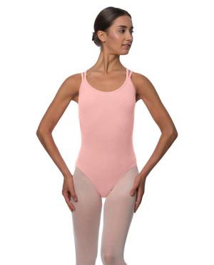 LULLI Dancewear Donne Balletto Calzamaglia/Body/Leotard YVETTE con spalline sottili
