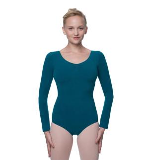 LULLI Dancewear Donne Balletto Calzamaglia/Body/Leotard MIRANDA con maniche lunghe