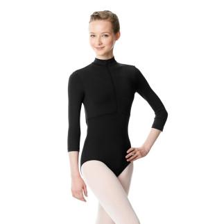 LULLI Dancewear Donne Balletto Calzamaglia/Body/Leotard ELIANA con colletto rialzato