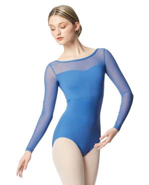 LULLI Dancewear Donne Balletto Calzamaglia/Body/Leotard LADA con maniche a rete