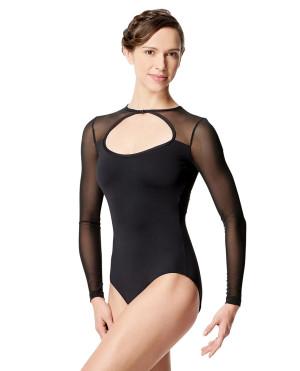LULLI Dancewear Donne Balletto Calzamaglia/Body/Leotard SIMONA con maniche lunghe