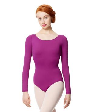 LULLI Dancewear Donne Balletto Calzamaglia/Body/Leotard INEZ con maniche lunghe