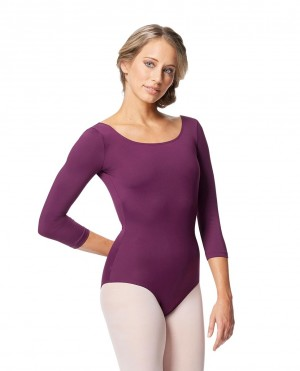 LULLI Dancewear Donne Balletto Calzamaglia/Body/Leotard VERONIKA senza schienale con maniche 3/4