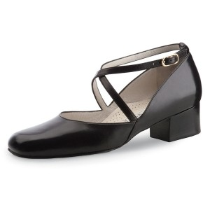Werner Kern - Femmes Chaussures de Danse Marion - Cuir Noir