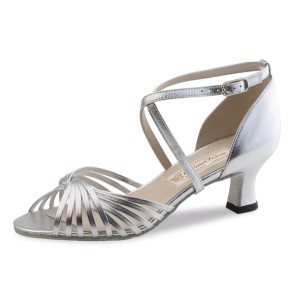 Werner Kern - Ladies Dance Shoes Mary 5,5 - Leather Silver