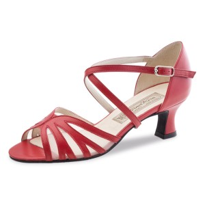 Werner Kern - Ladies Dance Shoes Meggy - Red Leather