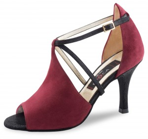 Nueva Epoca - Ladies Dance Shoes Dulce - Suede Bordeaux