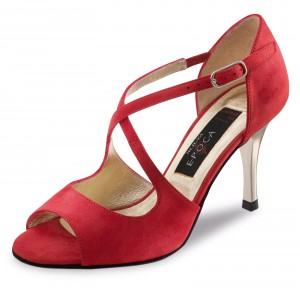 Nueva Epoca - Ladies Dance Shoes Flavia - Suede Red
