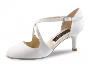 Nueva Epoca - Ladies Dance / Bridal Shoes India - White Satin