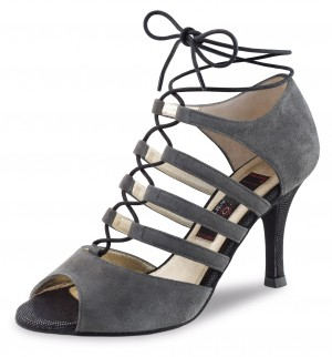 Nueva Epoca - Ladies Dance Shoes Lydia - Suede Gray