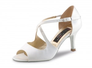 Nueva Epoca - Ladies Dance/Bridal Shoes Mable - White Satin