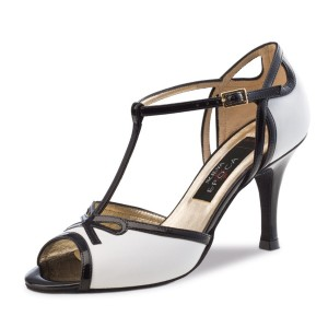 Nueva Epoca - Ladies Dance Shoes Paloma - Leather Black/White