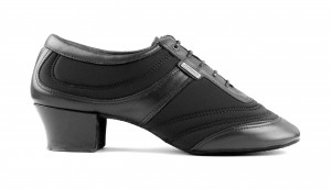 PortDance - Men´s Latin Dance Shoes PD013 Pro - Leather/Lycra Black - 4 cm Latin [EUR 42]