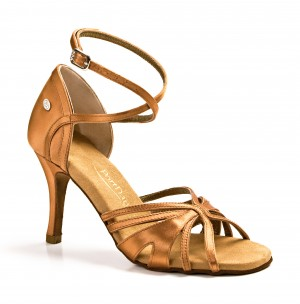 PortDance - Damen Tanzschuhe PD140 Premium - Dark Tan