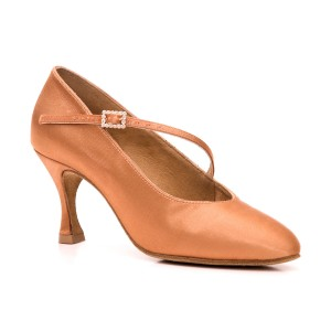 PortDance - Donne Scarpe da Ballo PD200 Premium - Dark Tan