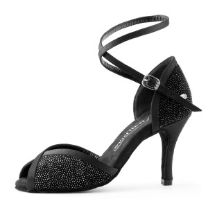 PortDance - Mujeres Zapatos de Baile PD500 Fashion - Glitter Negro