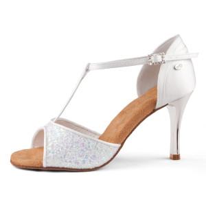 Portdance - Damen Tanzschuhe PD600 Fashion - Satin Weiß