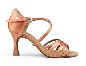 PortDance - Damen Tanzschuhe PD631 Basic - Bronze Dark Satin