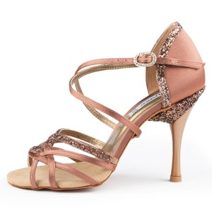PortDance - Damen Tanzschuhe PD800 Pro - Satin Bronze