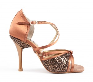 PortDance - Damen Tanzschuhe PD801 Pro - Bronze Satin